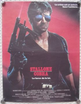 Cobra, French Affiche Original Poster, Sylvester Stallone, '86